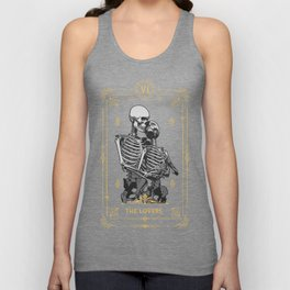 The Lovers VI Tarot Card Unisex Tank Top