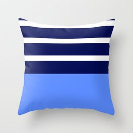 Summer Patio Perfect, Blue, White & Navy Throw Pillow