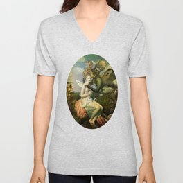 """The body, the soul and the garden of love"" Unisex V-Neck"