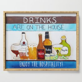 Drinks are on the House Serving Tray
