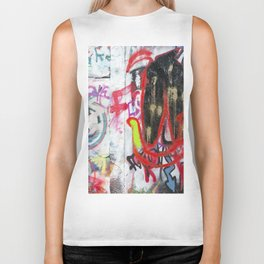 Colorful Graffiti Biker Tank