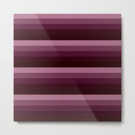 Burgundy stripes Metal Print
