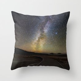 Grand Prismatic Spring Under The Milky Way Throw Pillow