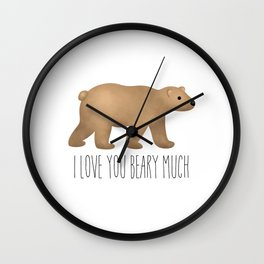 I Love You Beary Much Wall Clock