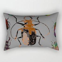 NATURE LOVERS BEETLE BUG COLLECTION ART Rectangular Pillow