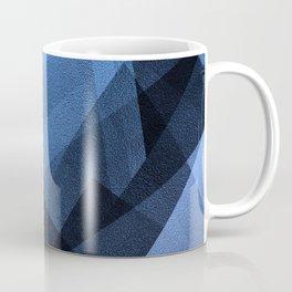 Cobalt Cubes - Digital Geometric Texture Coffee Mug