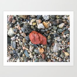 Little Rocks from the Beach Art Print