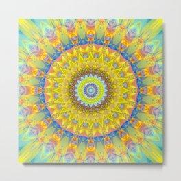 Mandala sun 2 Metal Print