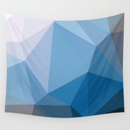 Shades Of Blue Triangle Abstract Wall Tapestry