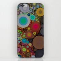 circles iPhone & iPod Skins featuring Circles by Olivia Joy StClaire