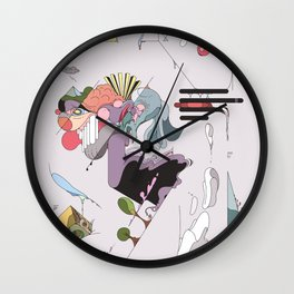 Cover for an imaginary magazine Wall Clock