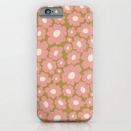 70's Retro Floral  iPhone Case