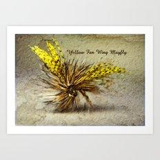 Yellow Fan Wing Mayfly Art Print