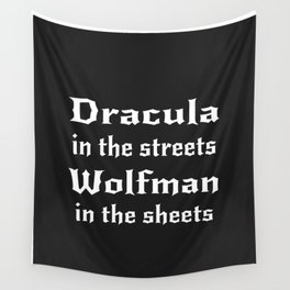 Dracula in the Streets Wall Tapestry