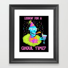 Lookin' for a ghoul time? Framed Art Print