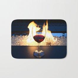 Fireside Wine II Bath Mat