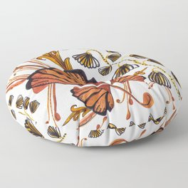 Art deco watercolor and hand drawn detailed artistic pattern Floor Pillow