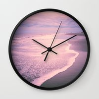 calm Wall Clocks featuring Calm by Olivia Joy StClaire