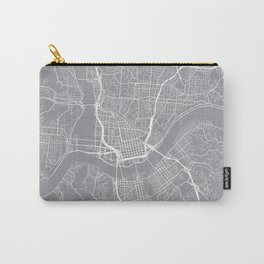 Cincinnati Map, Ohio USA - Pewter Carry-All Pouch