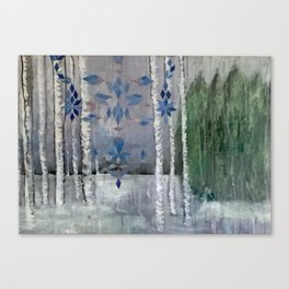 Snow in the Woods Canvas Print