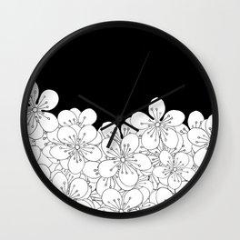 Cherry Blossom Boarder Wall Clock