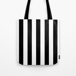 Lowest Price On Site - Vertical Black and White Stripes Tote Bag