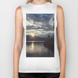idaho lake sunset Biker Tank