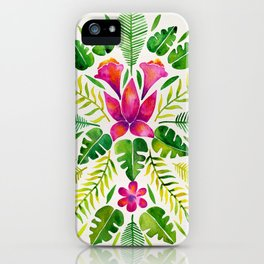 Tropical Symmetry – Pink & Green iPhone Case