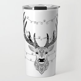 Reindeer with birds for christmas Travel Mug