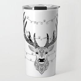 Reindeer with birds for christmas Travel Mug