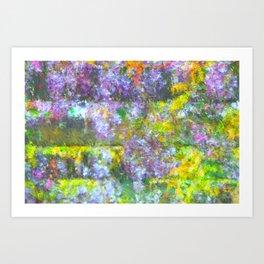 Impressionate Wisteria painting Art Print