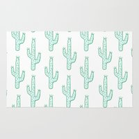 cactus Area & Throw Rugs featuring Cactus by Emma Winton