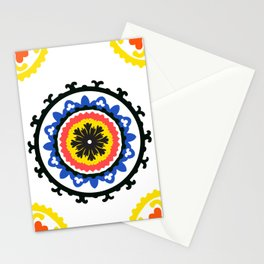 Bold and bright beauty of suzani patterns ver.9 Stationery Cards