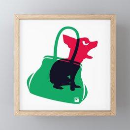 Angry animals: chihuahua - little green bag Framed Mini Art Print