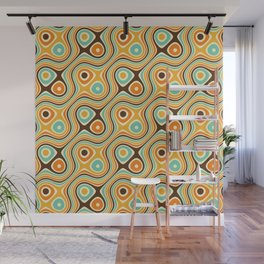 Retro Psychedelic Wall Mural