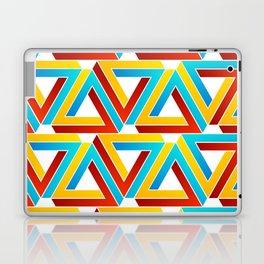 Colorful Penrose triangles- optical illusion backdrop Laptop & iPad Skin