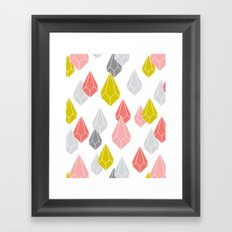 Raining Gems - Enchanted Framed Art Print