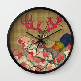 Chickedeer Blossoms Wall Clock