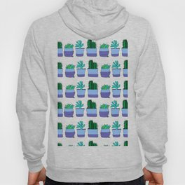 Potted succulent and cactus plant doodle pattern Hoody