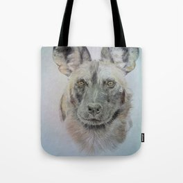 Wild African dog Tote Bag