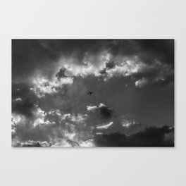 Plane and storm Canvas Print