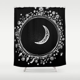doodled moon Shower Curtain