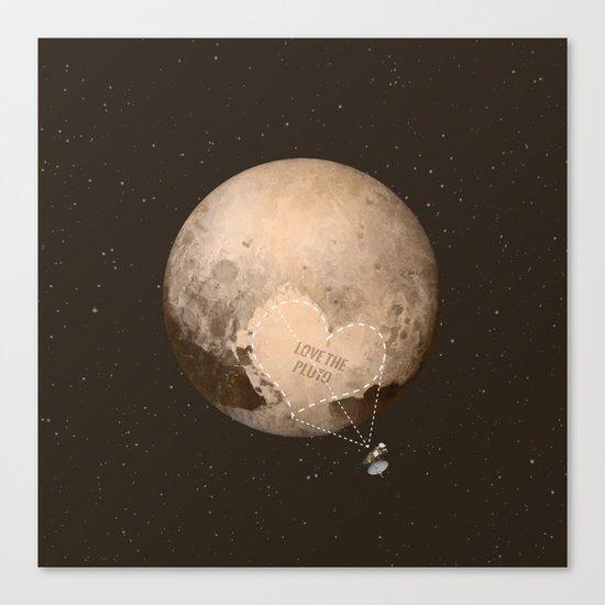Love the Pluto Canvas Print
