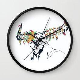 The Iron Bull Flower Crown Wall Clock