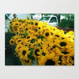 Farmer's Market Flowers Canvas Print