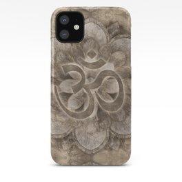 Om Symbol Lotus flower Vintage gold iPhone Case