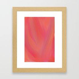 Pink On Fire Framed Art Print