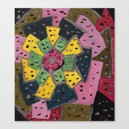 Squareland -flower Canvas Print
