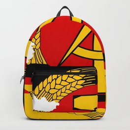 Flag Map of East Germany  Backpack
