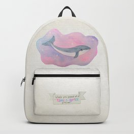 Pastel Space Whale Backpack